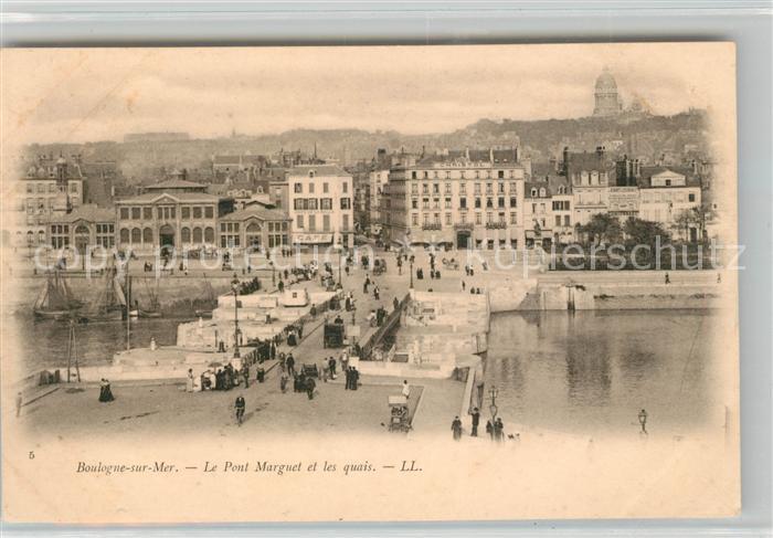 AK / Ansichtskarte Boulogne sur Mer Le Pont Marguet et les quais Kat. Boulogne sur Mer