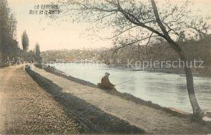 AK / Ansichtskarte La Varenne Bord de la Marre Angler Kat. La Varenne