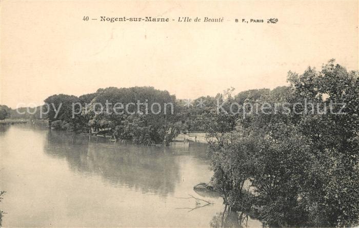 AK / Ansichtskarte Nogent sur Marne Ile de Beaute Kat. Nogent sur Marne