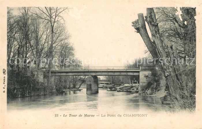AK / Ansichtskarte Champigny Marne Tour de Marne Kat. Champigny