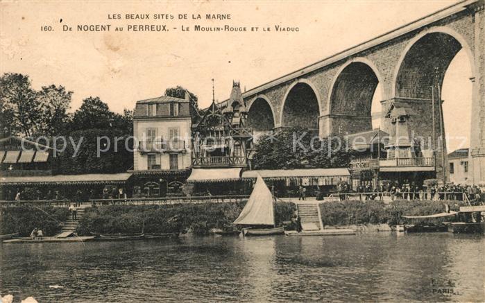 AK / Ansichtskarte Perreux sur Marne Le Nogent Moulin rouge Kat. Le Perreux sur Marne