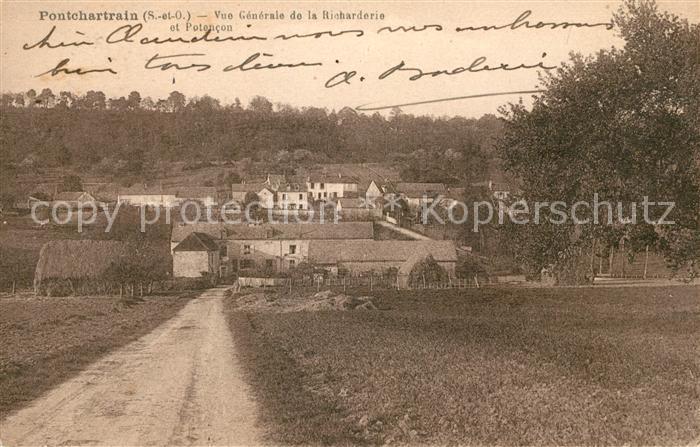 AK / Ansichtskarte Pontchartrain Jouars Vue generale de la Richarderie et Potencon