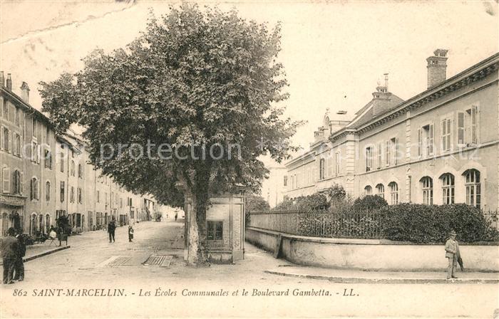 AK / Ansichtskarte Saint Marcellin Les Ecoles Communales et Boulevard Gambetta Kat. Saint Marcellin
