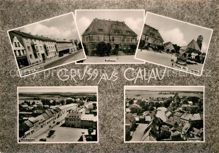 AK / Ansichtskarte Calau Cottbuser Str Rathaus PdF Marktplatz Teilansich Kat. Calau