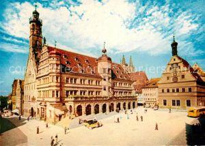AK / Ansichtskarte Rothenburg Tauber Rathaus Town Hall Kat. Rothenburg ob der Tauber