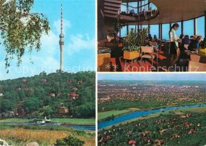 AK / Ansichtskarte Dresden Fernsehturm Innenansicht Panorama Kat. Dresden Elbe