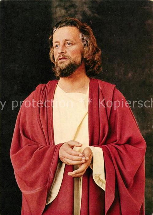 AK / Ansichtskarte Oberammergau Passionsspiele 1960 Christusdarsteller Anton Preisinger Kat. Oberammergau