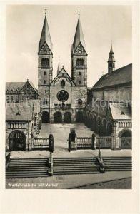 AK / Ansichtskarte Werl Westfalen Wallfahrtskirche mit Vorhof Kat. Werl