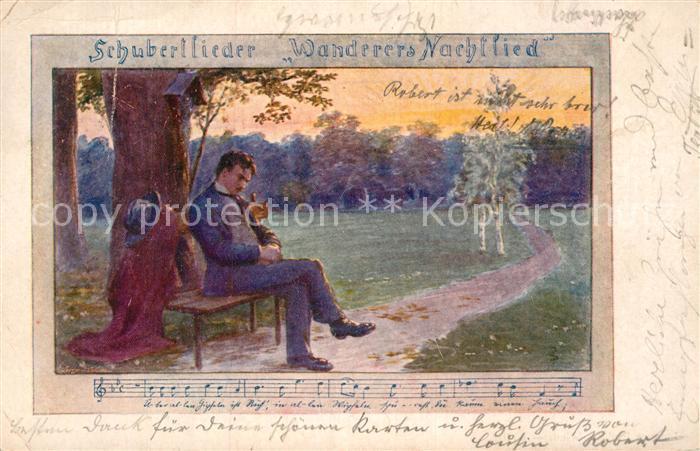 AK / Ansichtskarte Schubert Franz Wanderers Nachtlied  Kat. Persoenlichkeiten