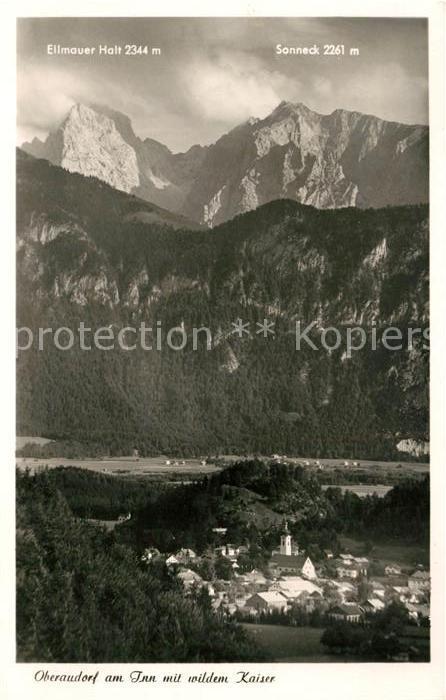 AK / Ansichtskarte Oberaudorf mit wildem Kaiser Ellmauer Halt und Sonneck Kat. Oberaudorf