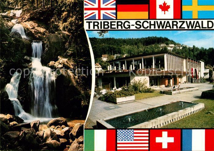 AK / Ansichtskarte Triberg Schwarzwald Wasserfaelle Stadthalle Kat. Triberg im Schwarzwald