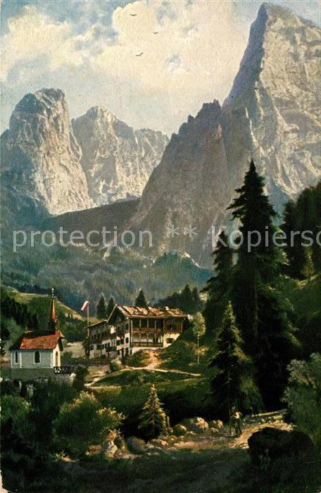 AK / Ansichtskarte Hinterbaerenbad Panorama Alpen Kat. Kaisertal