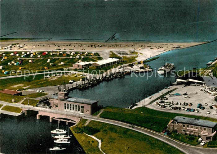 AK / Ansichtskarte Carolinensiel Ostfriesland Strand und Hafen Fliegeraufnahme Fliegeraufnahme Kat. Wittmund