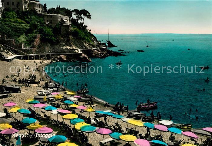 AK / Ansichtskarte Zoagli Strandpartie