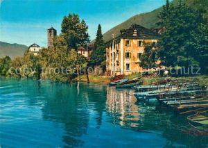 AK / Ansichtskarte Rivapiana Lago Maggiore Il porto e la Chiesa di San Quirico Kat. Minusio