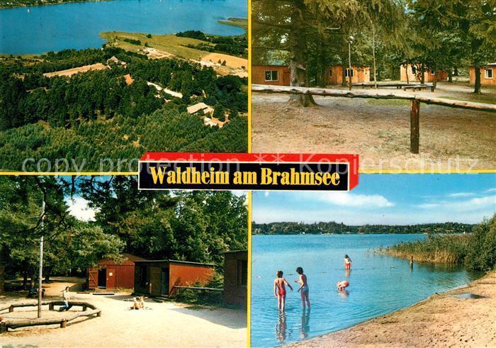 AK / Ansichtskarte Waldheim Brahmsee Ev Jugendheim Details Schwimmbad Kat. Langwedel