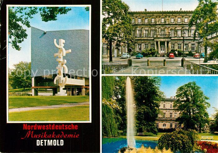 AK / Ansichtskarte Detmold Musikakademie Palais  Kat. Detmold