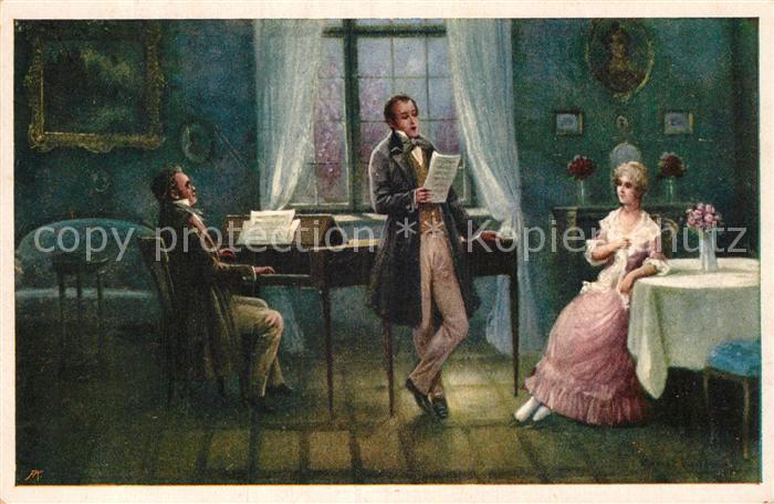 AK / Ansichtskarte Schubert Franz Dreimaederlhaus Kuenstlerkarte Ernst Vogt Moderne Galerie Nr. 1269 Kat. Persoenlichkeiten