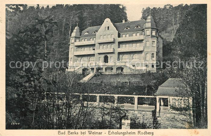 AK / Ansichtskarte Bad Berka Erholungsheim Rodberg Kat. Bad Berka