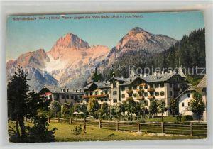 AK / Ansichtskarte Schluderbach Carbonin Hotel Ploner gegen die hohe Gaisi Rote Wand