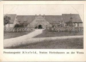 AK / Ansichtskarte Herleshausen Pensionsgestuet Altefeld an der Werra Kat. Herleshausen
