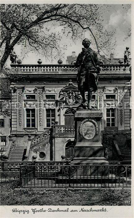 AK / Ansichtskarte Leipzig Goethe Denkmal Naschmarkt Kat. Leipzig