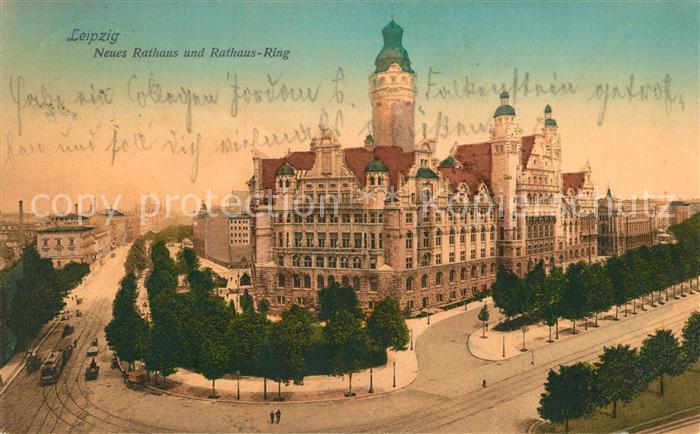 AK / Ansichtskarte Leipzig Neues Rathaus Rathaus Ring Kat. Leipzig