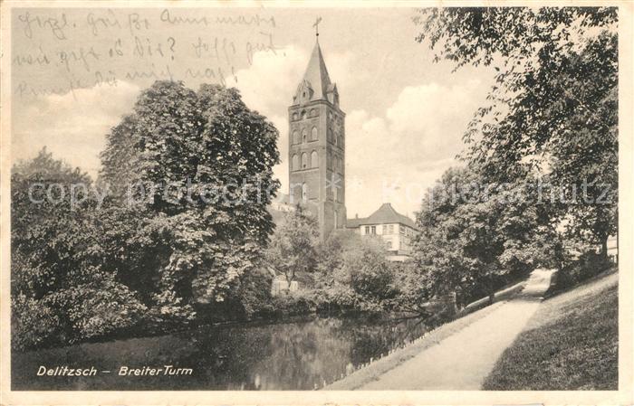 AK / Ansichtskarte Delitzsch Breiter Turm Kat. Delitzsch