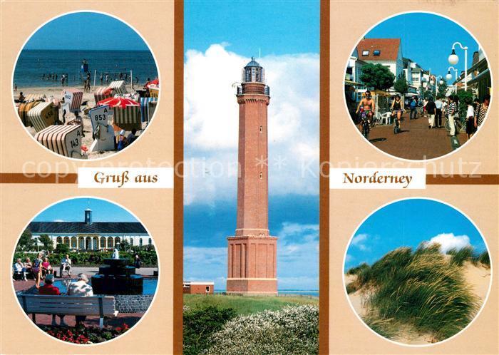 AK / Ansichtskarte Norderney Nordseebad Strand Strassenpartie Park Leuchtturm Duenen Kat. Norderney