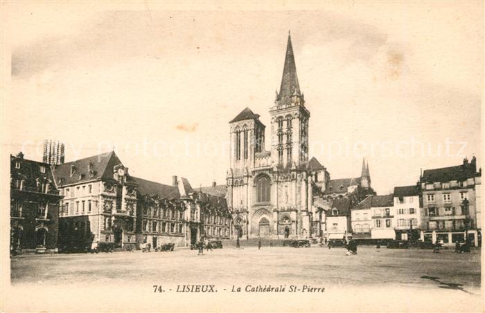 AK / Ansichtskarte Lisieux La Cathedrale Saint Pierre Kat. Lisieux