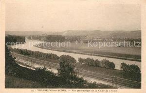 AK / Ansichtskarte Villeneuve sur Yonne Vue panoramique de la Vallee de l Yonne Kat. Villeneuve sur Yonne