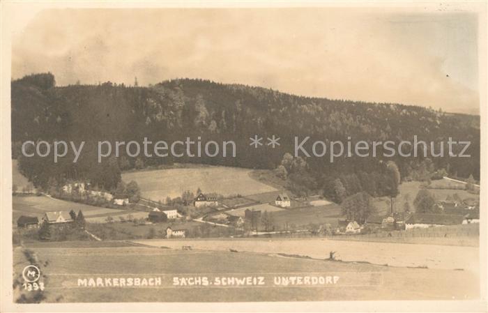 AK / Ansichtskarte Markersbach Bahratal Panorama Unterdorf