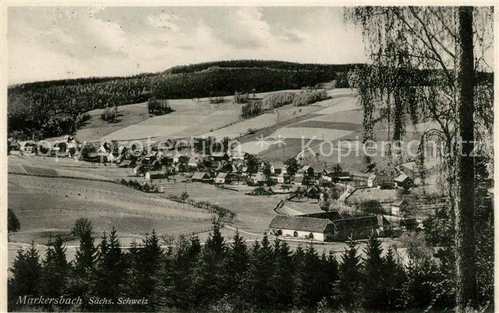 AK / Ansichtskarte Markersbach Bahratal Panorama