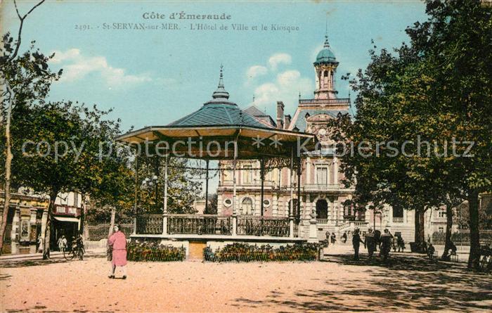 AK / Ansichtskarte Saint Servan sur Mer Hotel de Ville et le Kiosque