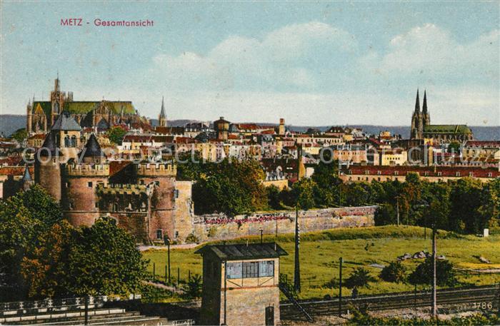 AK / Ansichtskarte Metz Moselle Gesamtansicht Kathedrale Kat. Metz