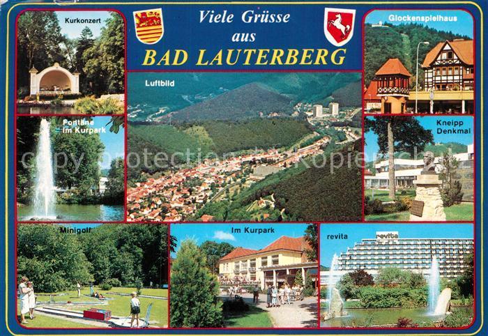 AK / Ansichtskarte Bad Lauterberg Glockenspielhaus Revita Minigolf Fliegeraufnahme Kat. Bad Lauterberg im Harz
