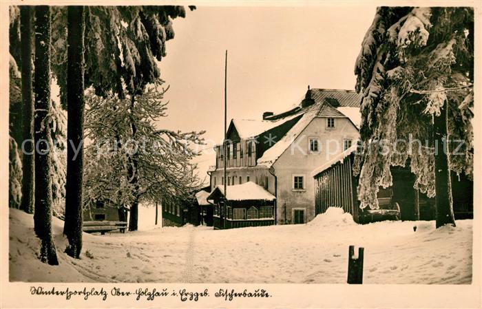 AK / Ansichtskarte Oberholzhau Fischerbaude Wintersportplatz Kat. Rechenberg Bienenmuehle