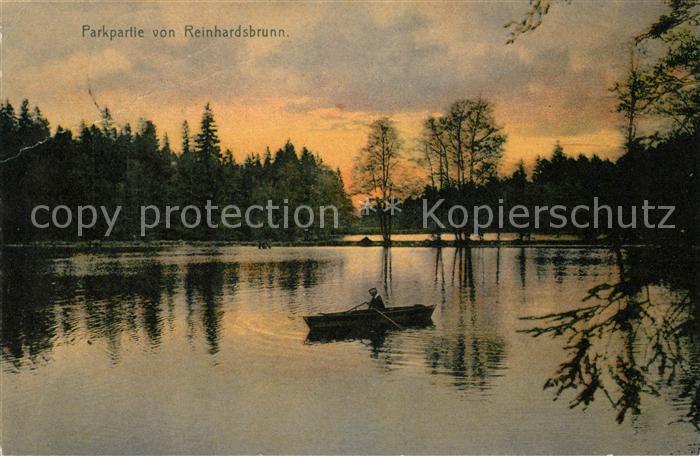 AK / Ansichtskarte Friedrichroda Parkpartie Schloss Reinhardsbrunn Teich Kat. Friedrichroda