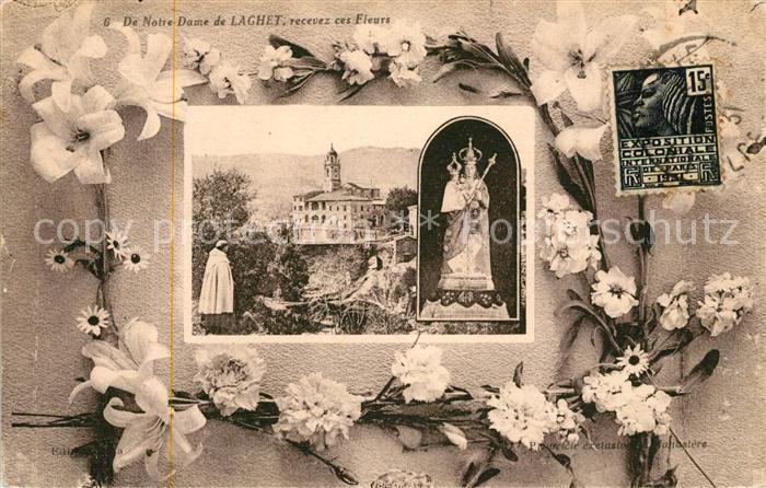 AK / Ansichtskarte Notre Dame de Laghet recevez ces fleurs Monastere