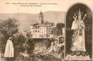 AK / Ansichtskarte Notre Dame de Laghet Route de la Corniche Monastere