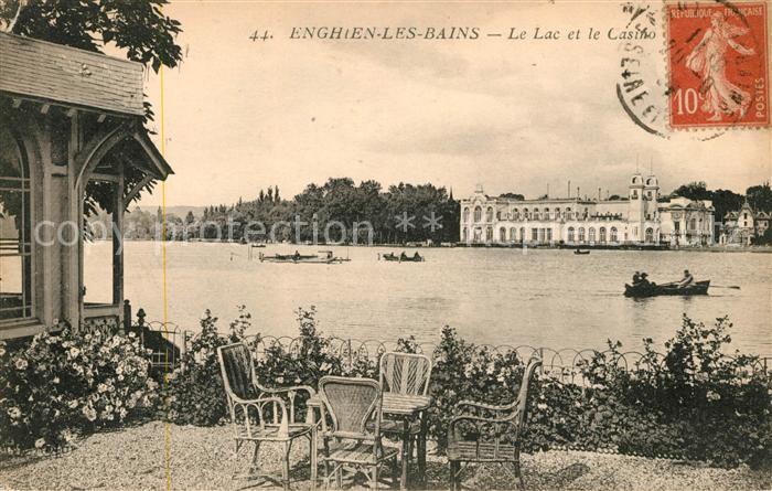 AK / Ansichtskarte Enghien les Bains Le Lac et le Casino Kat. Enghien les Bains