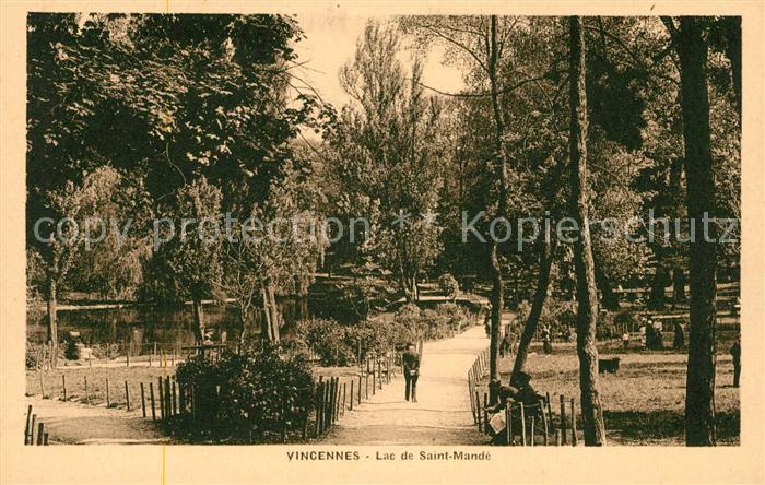 AK / Ansichtskarte Vincennes Lac de Saint Mande Kat. Vincennes
