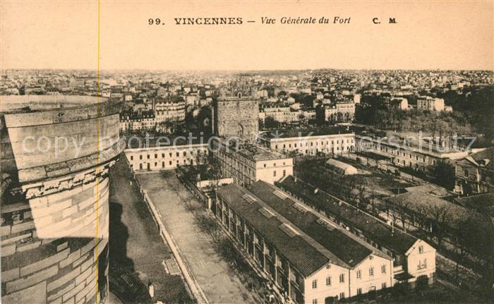 AK / Ansichtskarte Vincennes Vue generale du Fort Kat. Vincennes