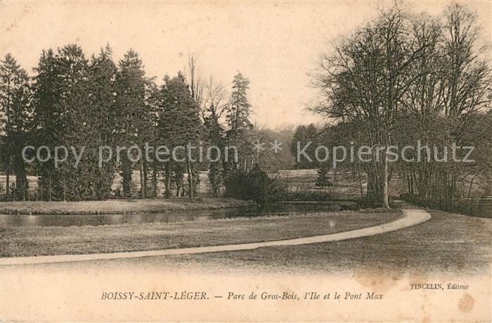 AK / Ansichtskarte Boissy Saint Leger Parc de Gros Bois Ile et Pont Max Kat. Boissy Saint Leger
