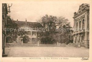 AK / Ansichtskarte Montlucon La Sous Prefecture et le Theatre Kat. Montlucon