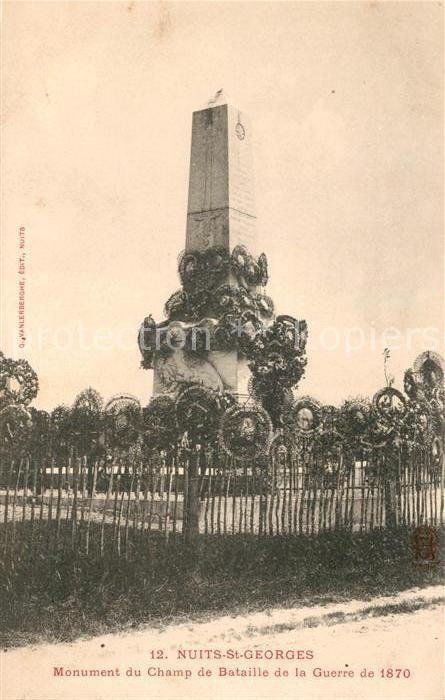 AK / Ansichtskarte Nuits Saint Georges Monument du Champ de Bataille de la Guerre de 1870 Kat. Nuits Saint Georges
