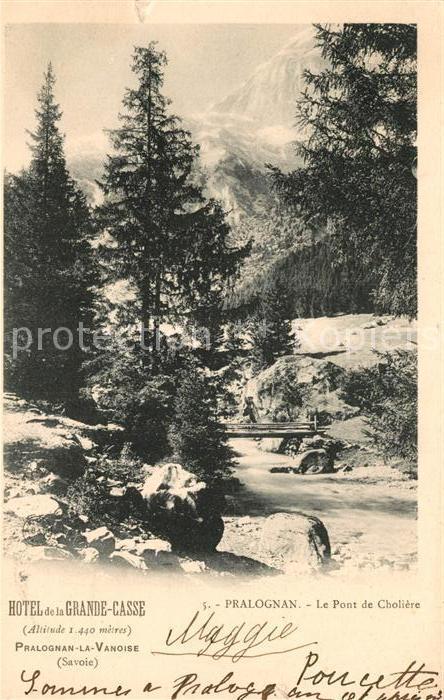 AK / Ansichtskarte Pralognan la Vanoise Pont de Choliere Kat. Pralognan la Vanoise