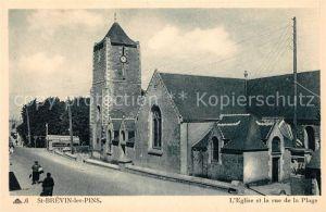 AK / Ansichtskarte Saint Brevin les Pins Eglise Rue de la Plage Kat. Saint Brevin les Pins
