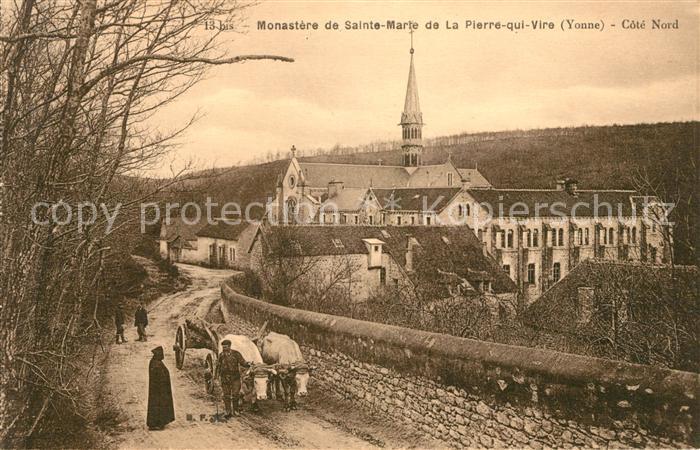 AK / Ansichtskarte La Pierre qui Vire Monastere de Sainte Marie Ochsenkarren Kat. La Chapelle du Mont de France
