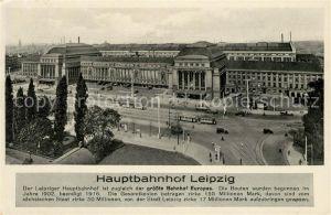 AK / Ansichtskarte Leipzig Hauptbahnhof Kat. Leipzig
